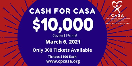 Cash for CASA 2021 tickets