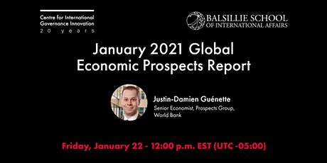January 2021 Global Economic Prospects Report tickets