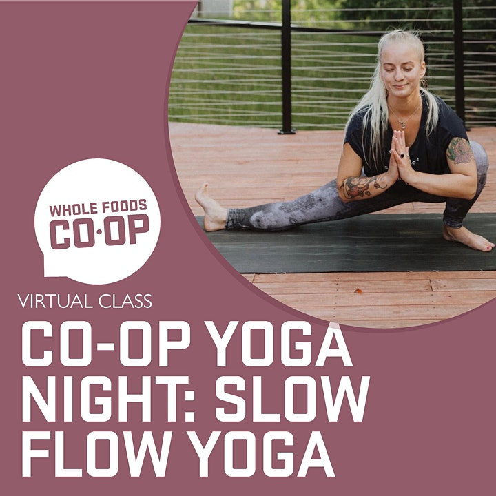 Slow Flow Yoga - A FREE virtual Co-op Class image