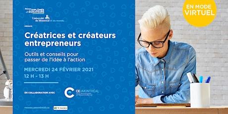Créatrices et créateurs entrepreneurs : Passer de l'idée à l'action billets