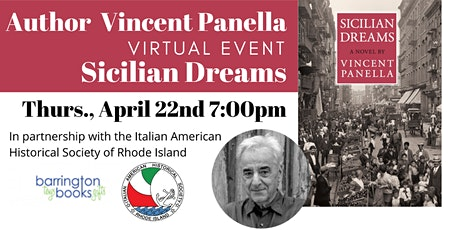 Author Vincent Panella: Sicilian Dreams Virtual Book Discussion tickets