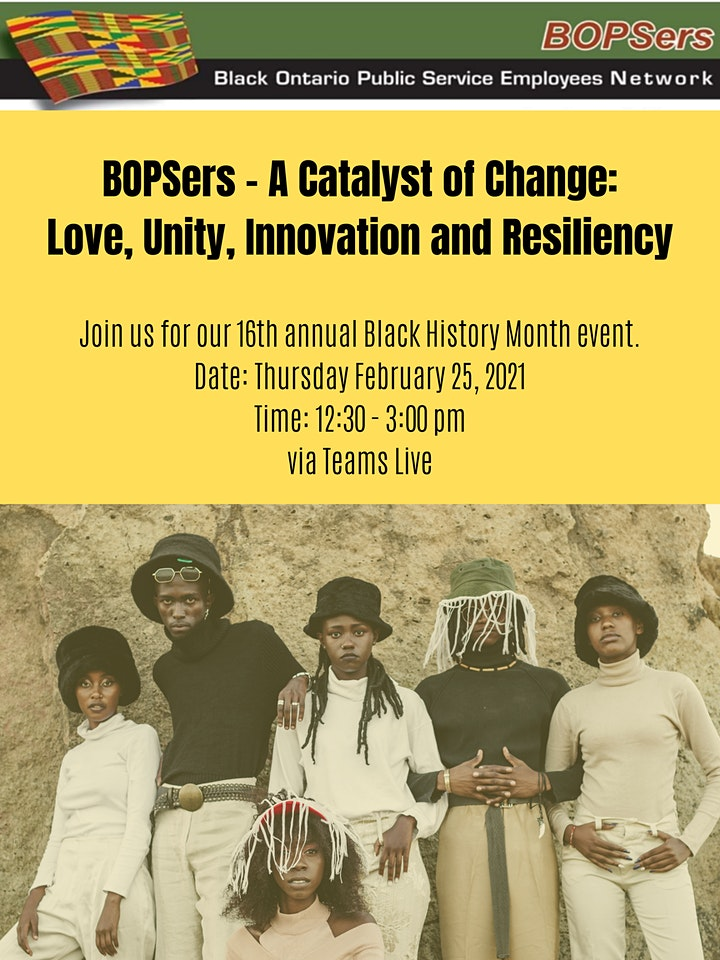 The BOPSers 16th Annual Black History Month Event image