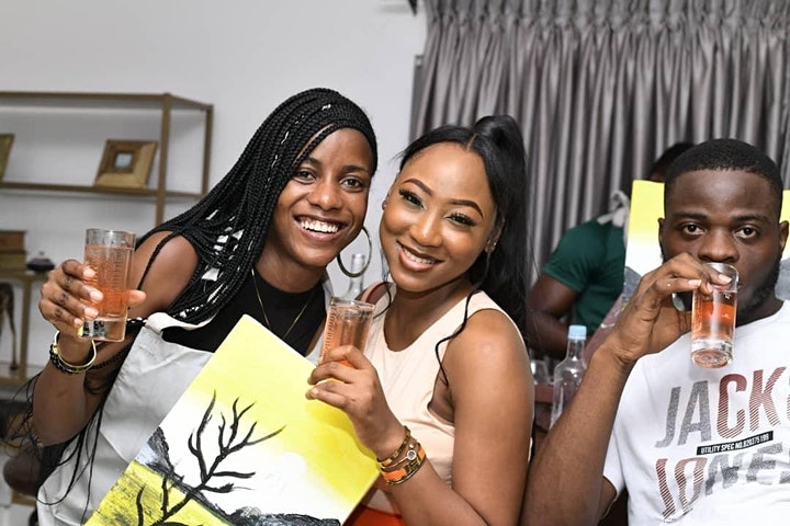Things to do in Lagos : Sip and Paint . NG AT The Metaphor image