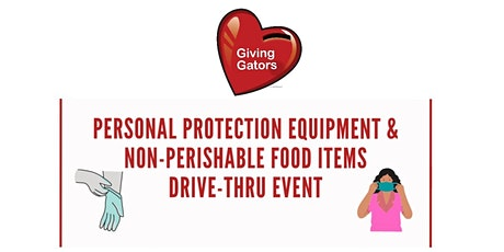 Set-up for PPE & Non-Perishable Food Items Drive -Thru Event tickets