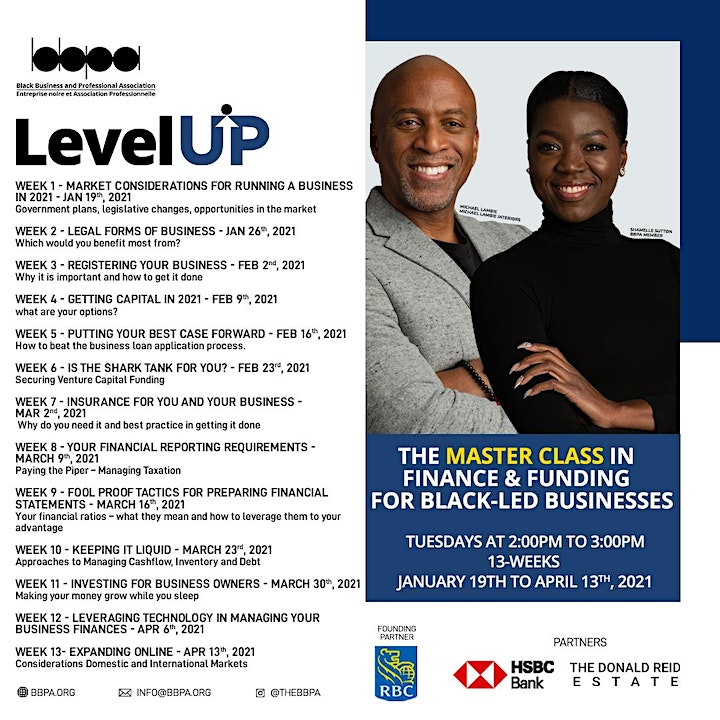 Level UP - The  Finance & Funding Masterclass for Black-led Businesses image