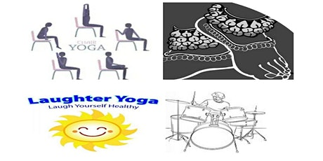 Free Online Yoga: Breathing Chair Laughter Yoga &Live Dance & English Music tickets