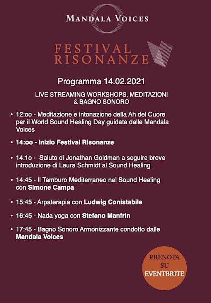 Immagine FESTIVAL RISONANZE - Live Streaming con Workshops & Bagno Sonoro