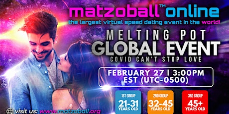 Jewish Melting Pot - Feb 27th - 3pm EST tickets