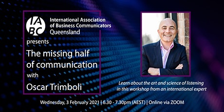 The missing half of communication with Oscar Trimboli tickets