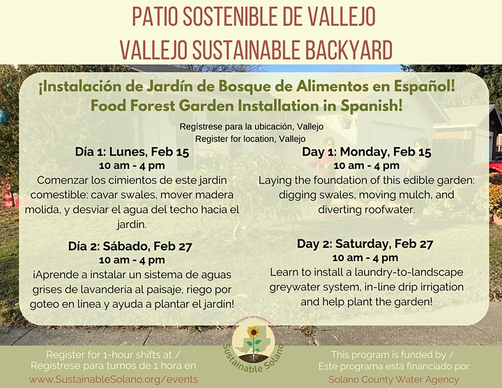 Bilingual Food Forest Installation in Vallejo- Day 1 image