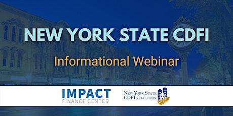 New York State CDFI Investor Club Informational Webinar tickets