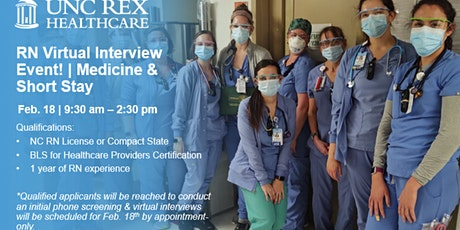 UNC REX RN Virtual Interview Event - Medicine and Short Stay tickets