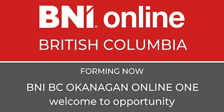 BNI British Columbia  Okanagan Online One Information Session tickets