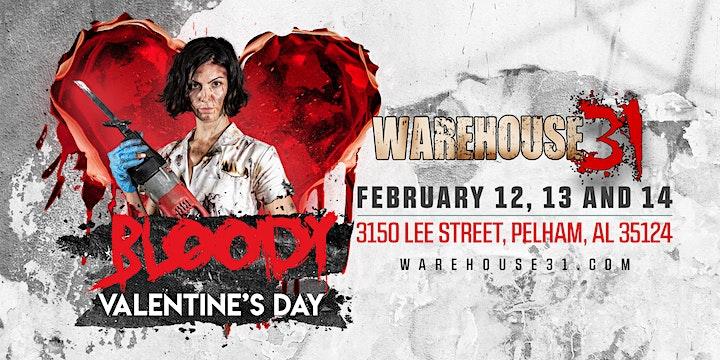 Bloody Valentine Haunted House - Warehouse31 - 2021 image