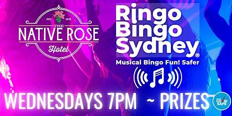 RINGO BINGO SYDNEY MUSICAL BINGO WEDNESDAY'S 7PM@ NATIVE ROSE HOTEL ROZELLE tickets