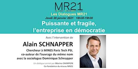 Dialogues MR21 · Puissante et fragile, l'entreprise en démocratie billets