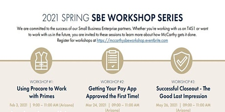 McCarthy's 2021 Spring SBE Workshop Series tickets