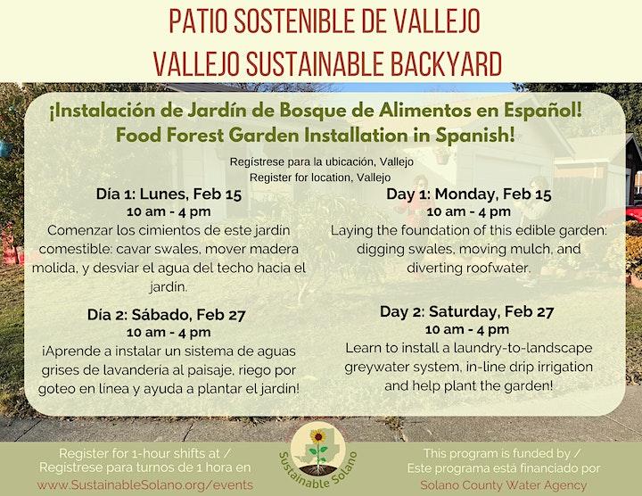 Imagen de Instalación en Español de Bosque de Alimentos en Vallejo - Día 1