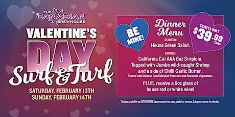 Valentine's Day Surf & Turf Dinner (Regina Grasslands) tickets