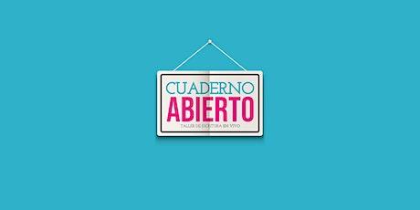 Cuaderno Abierto, taller intensivo de escritura, con Juan Sklar entradas