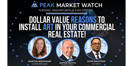Dollar Value Reasons to Install Art in Your Commercial Real Estate! tickets