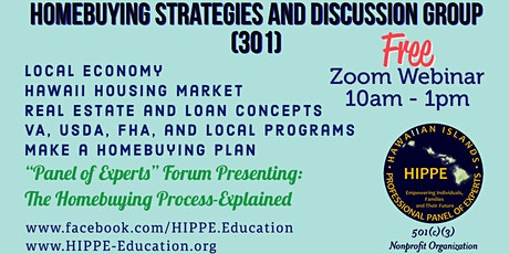 HIPPE 301 Homebuying Strategies and Discussion Group tickets