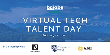 Virtual Tech Talent Day - BC Jobs & TECHNATION tickets