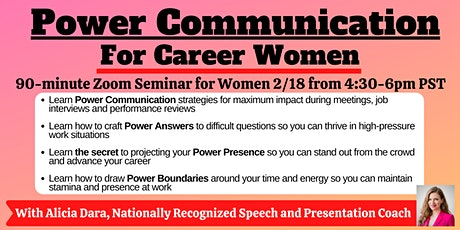 Power Communication for Career Women tickets