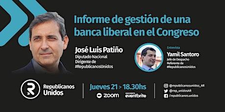 José Luis Patiño. Informe de una banca liberal en HCDN. Jue 21/Ene,18:30 hs entradas