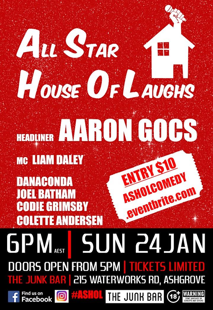 Stand Up Comedy - Aaron Gocs - 24th January image