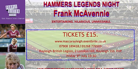 Frank McAvennie @ Rayleigh tickets