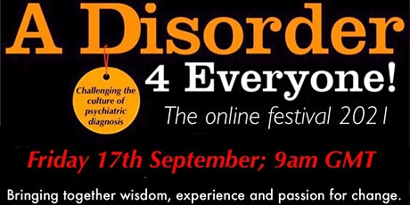 A Disorder for Everyone!  - The Online Festival 2021 billets