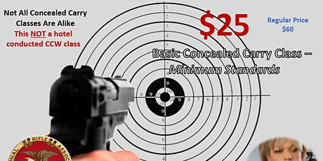 Concealed Carry Class - Minimum Standards CCW-100 tickets