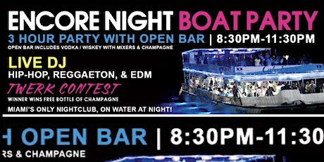 Miami Nightclub on a boat (first 50 people only) tickets