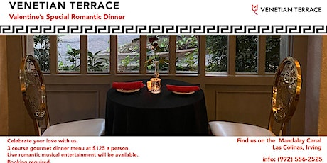 Valentine's Dinner Special at the Venetian Terrace tickets