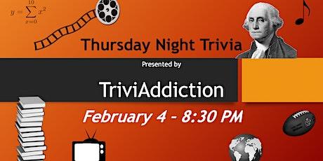 TriviAddiction Thursday Night Trivia tickets