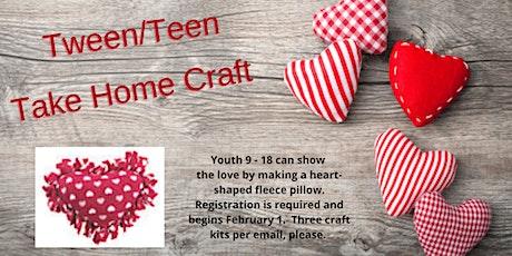Heart-Shaped Fleece Pillow Craft for Tweens and Teens tickets