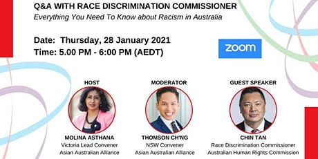 Q&A With Australia's Race Discrimination Commissioner - Chin Tan tickets