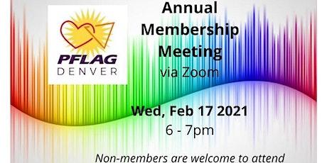 PFLAG Denver Annual Membership Meeting tickets