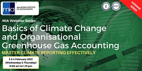 Basics of Climate Change and Oraganisational Greenhouse Gas Accounting tickets