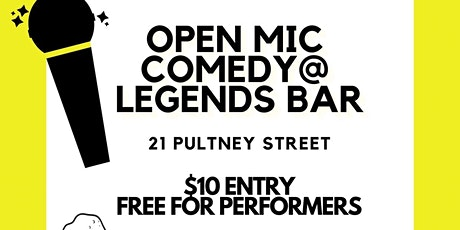 Open Mic Comedy At Legends Bar tickets