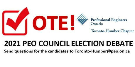 2021 PEO Council Candidates Virtual Election Debate tickets