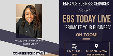 EBS Today Live - Promote Your Business tickets