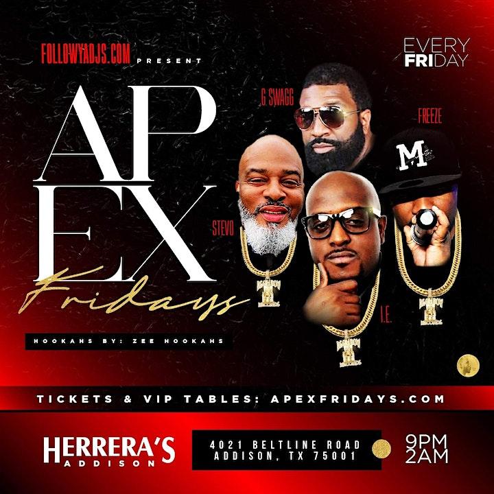 APEX Fridays @ Herrera's Addison image
