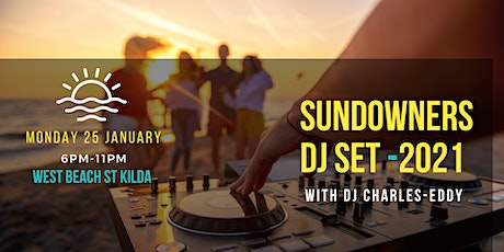 Sundowners DJ Set beach party - Monday 25th of January tickets