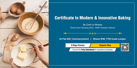 Certificate In Modern & Innovative Baking tickets