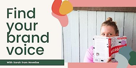 Brand! Find your brand voice tickets