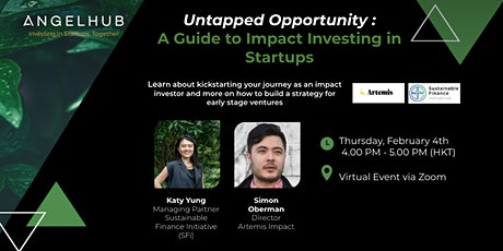 Untapped Opportunity : A Guide to Impact Investing in Startups tickets