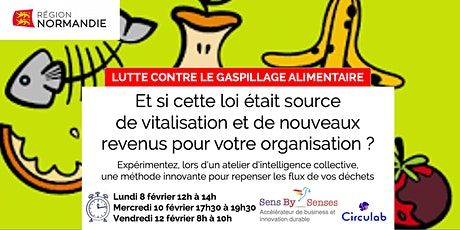 """Atelier collaboratif en ligne """"Lutte contre le gaspillage alimentaire"""" tickets"""