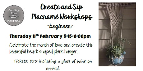 Country Rose Macrame Workshop - Heart Plant Hanger tickets